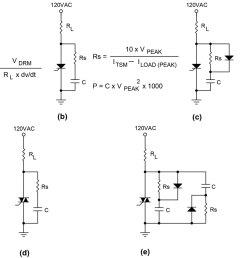 let s assume rl equals 24 ohms 5 amps at 120 vac plugging the values in we get c 200 24 x 100 x 106 083 f i d use a 0 1 f 200 volt cap  [ 1200 x 871 Pixel ]