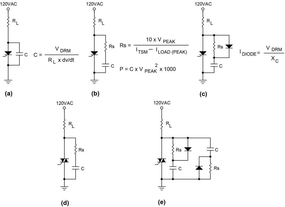 medium resolution of let s assume rl equals 24 ohms 5 amps at 120 vac plugging the values in we get c 200 24 x 100 x 106 083 f i d use a 0 1 f 200 volt cap