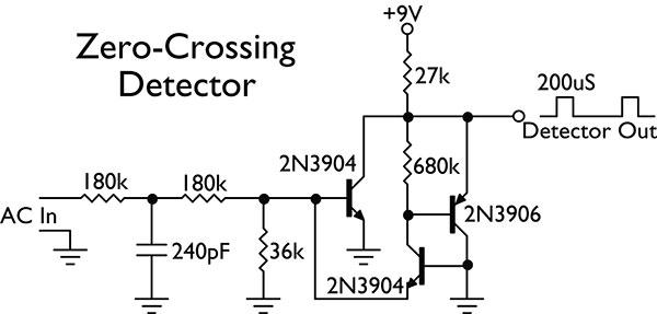 single supply zero crossing detector