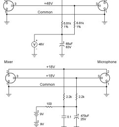 from the q and a nuts volts magazine xlr phantom power schematic phantom power schematic [ 800 x 1037 Pixel ]