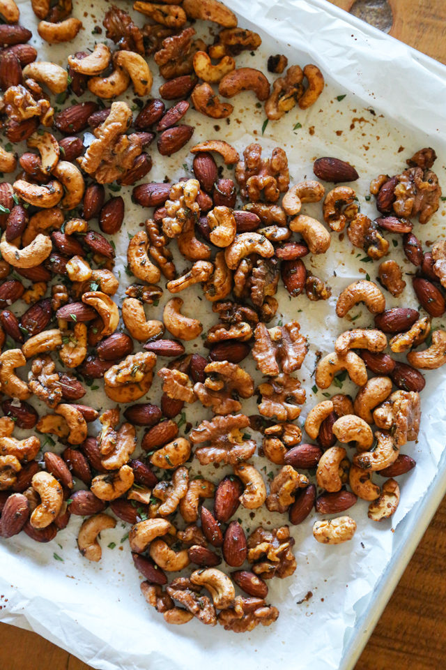 Rosemary Spiced Nuts from Kitchen Confidence
