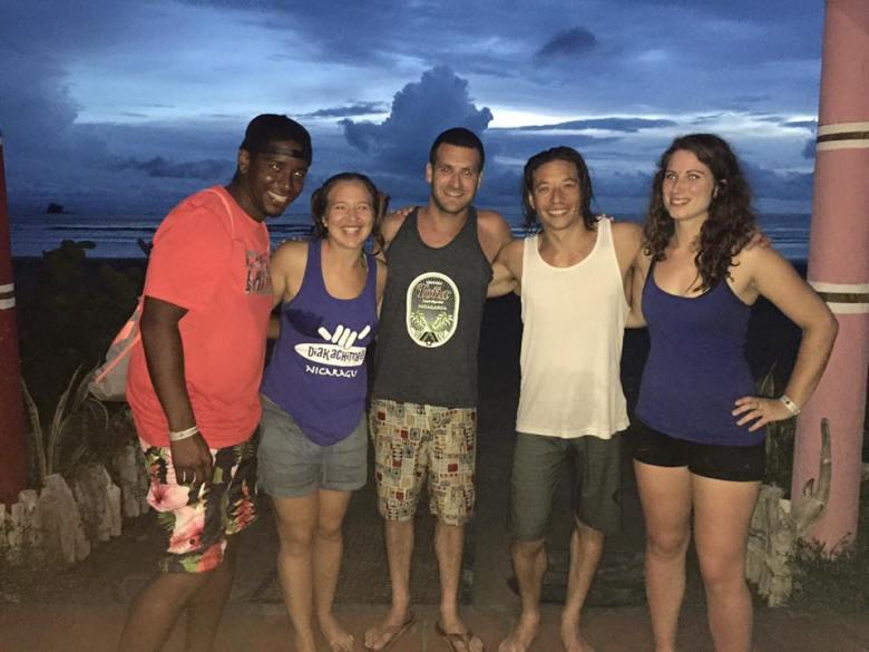 Friends in San Juan Del Sur Nicaragua