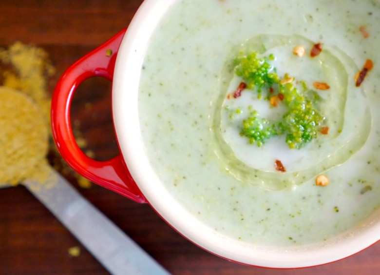Cream of Broccoli Vegan Soup