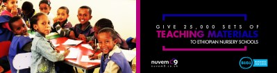 Give 25,000 sets of Teaching Materials to Ethiopian Nursery Schools
