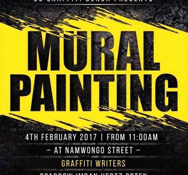 Six With Sparrow; talks Graffiti & Mural Painting event on 4 February