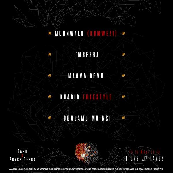 Tracklist Lions and Lambs EP Baru and Pryce Teeba