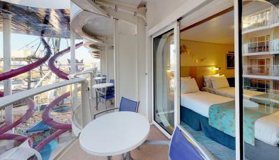 Oasis of the Seas- Boardwalk View Balcony 3D Model