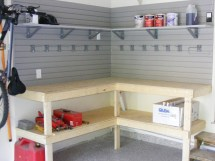 DIY Garage Workbench with Shelves