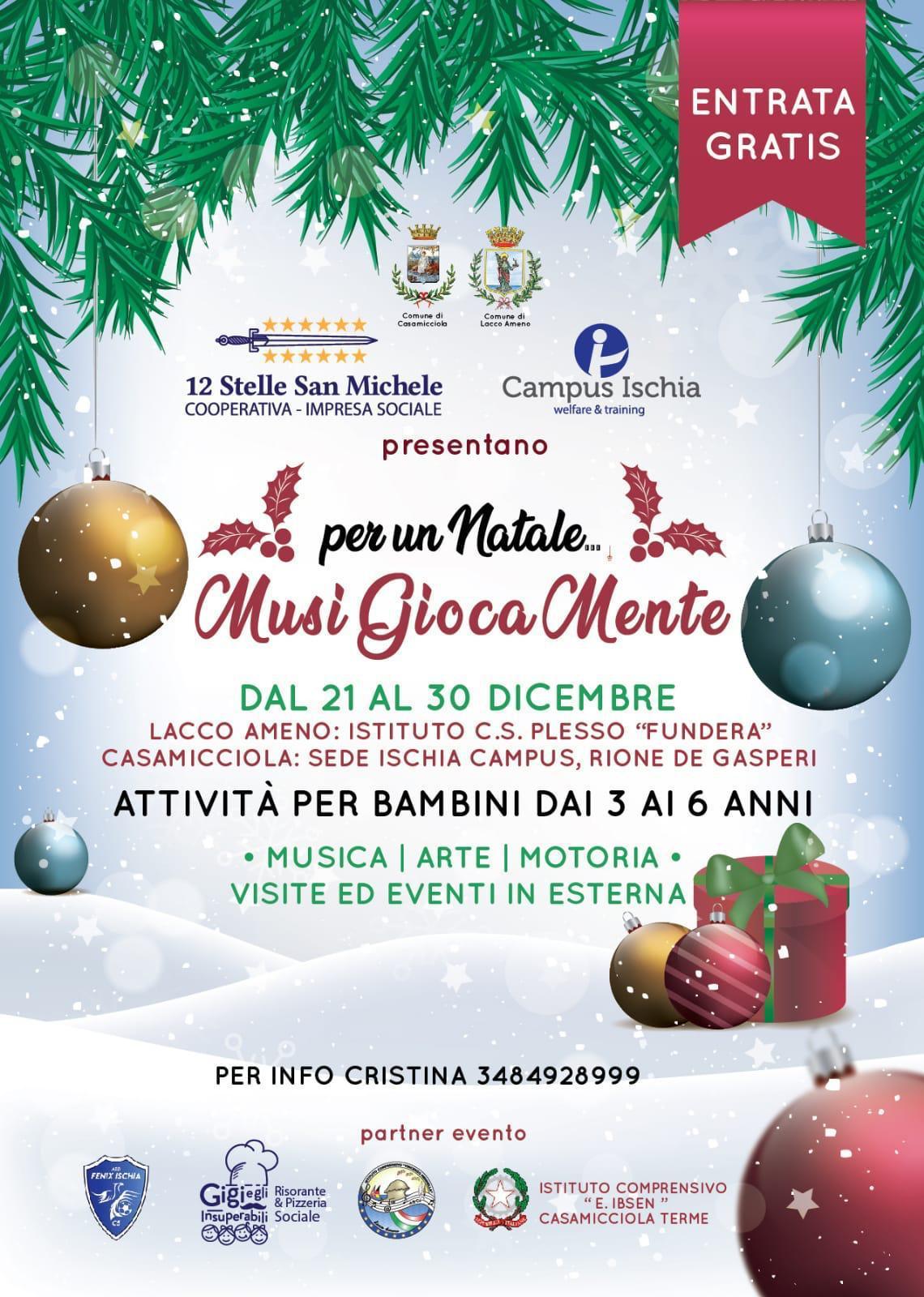 Tante opere per festeggiare insieme. Musigiocamente A Natale Gratuitamente Sport Musica E Arte Per I Bambini Nuvola Tv Ischia