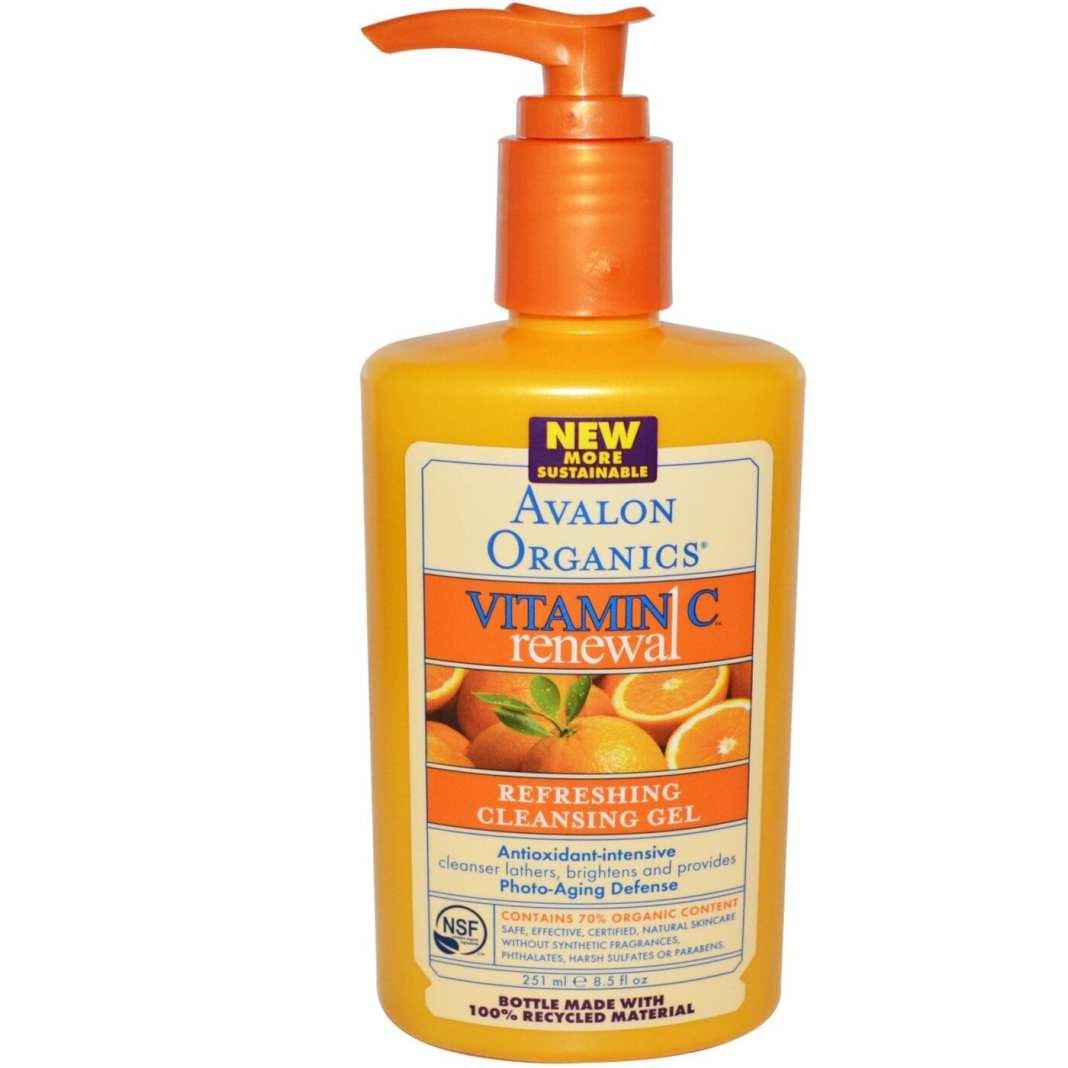 Avalon Organics, Vitamin C Renewal, Refreshing Cleansing Gel