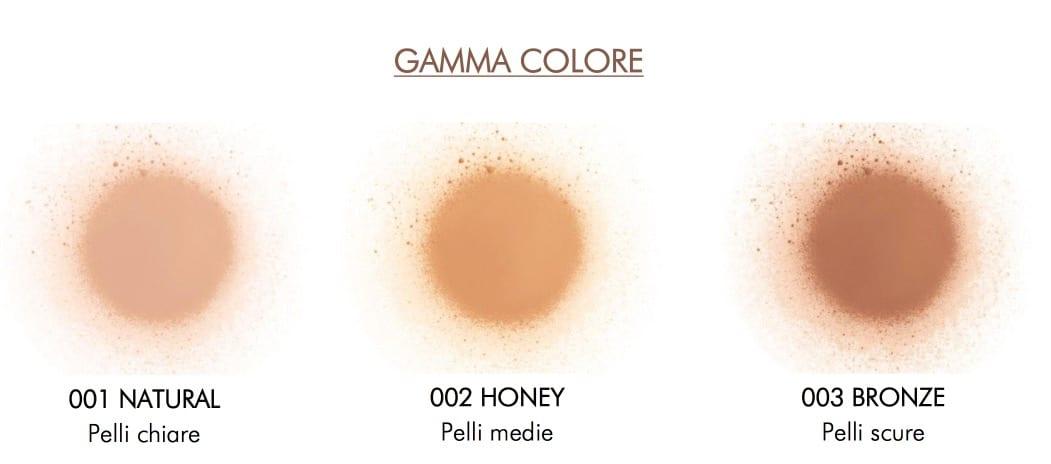 Le tonalità del Fondotinta Spray Gambe