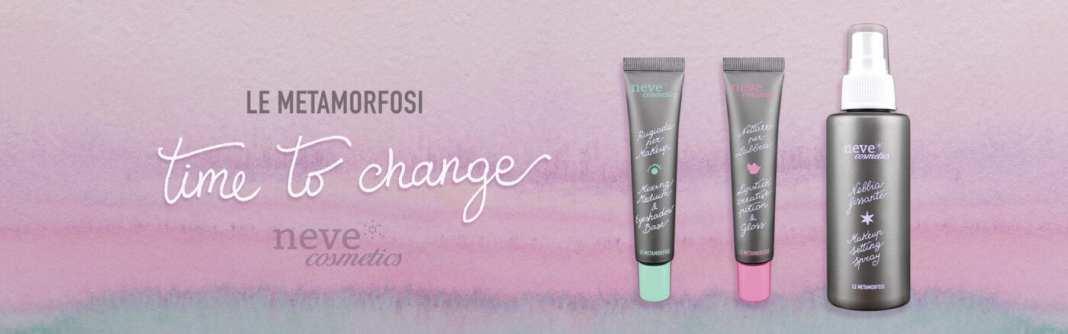 Le Metamorfosi Neve Cosmetics Rinnovo Packaging 2017