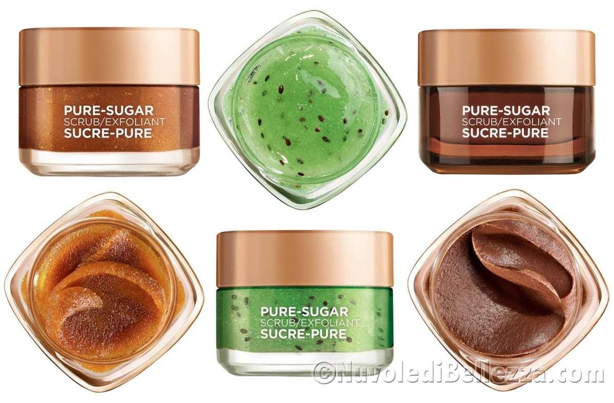 Sugar Scrub L'Oréal Paris, Nuovi Scrub Viso e Labbra