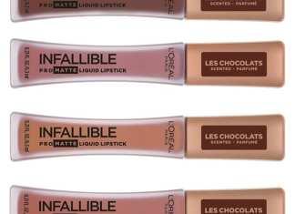 L'Oreal Infallible Pro Matte Rossetti Liquidi al profumo di Cioccolato