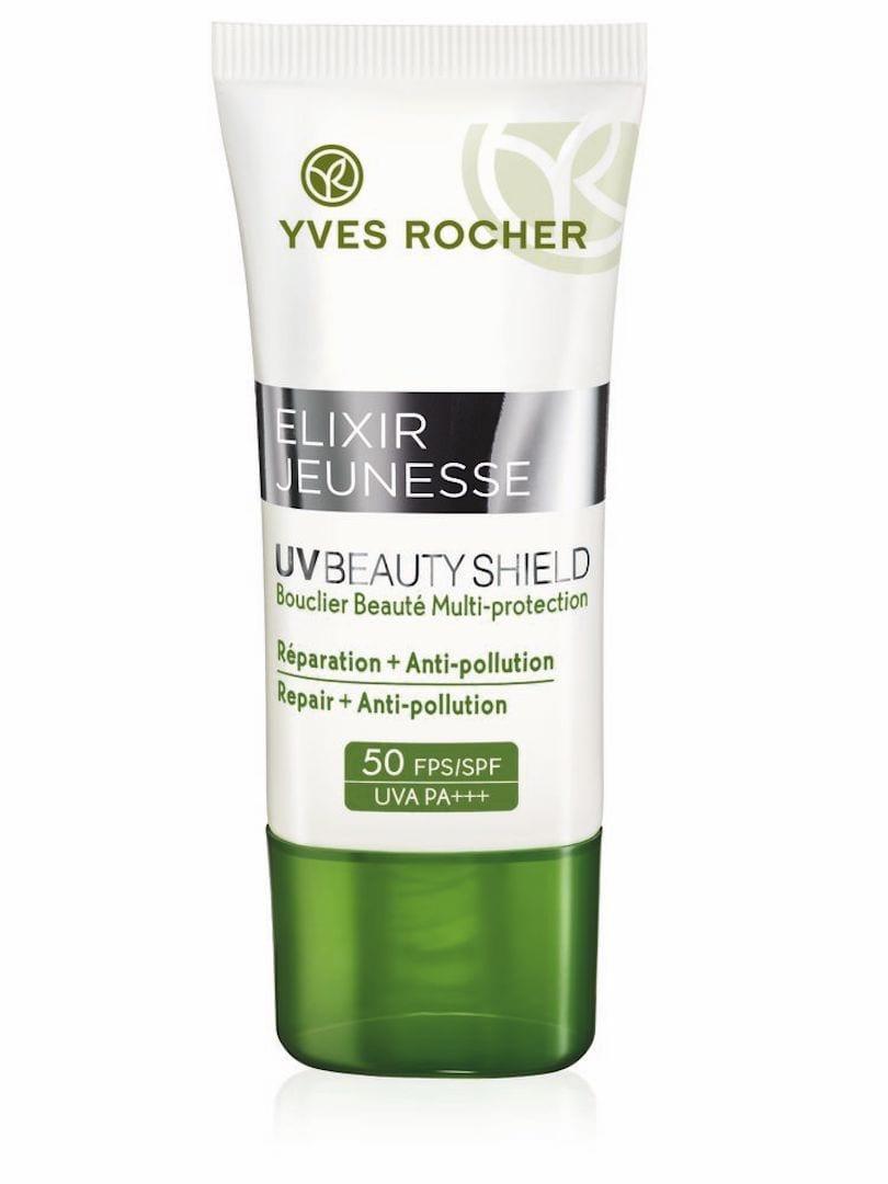 Yves Rocher UV Beauty Shield Filtro Solare ed Anti-Inquinamento SPF50
