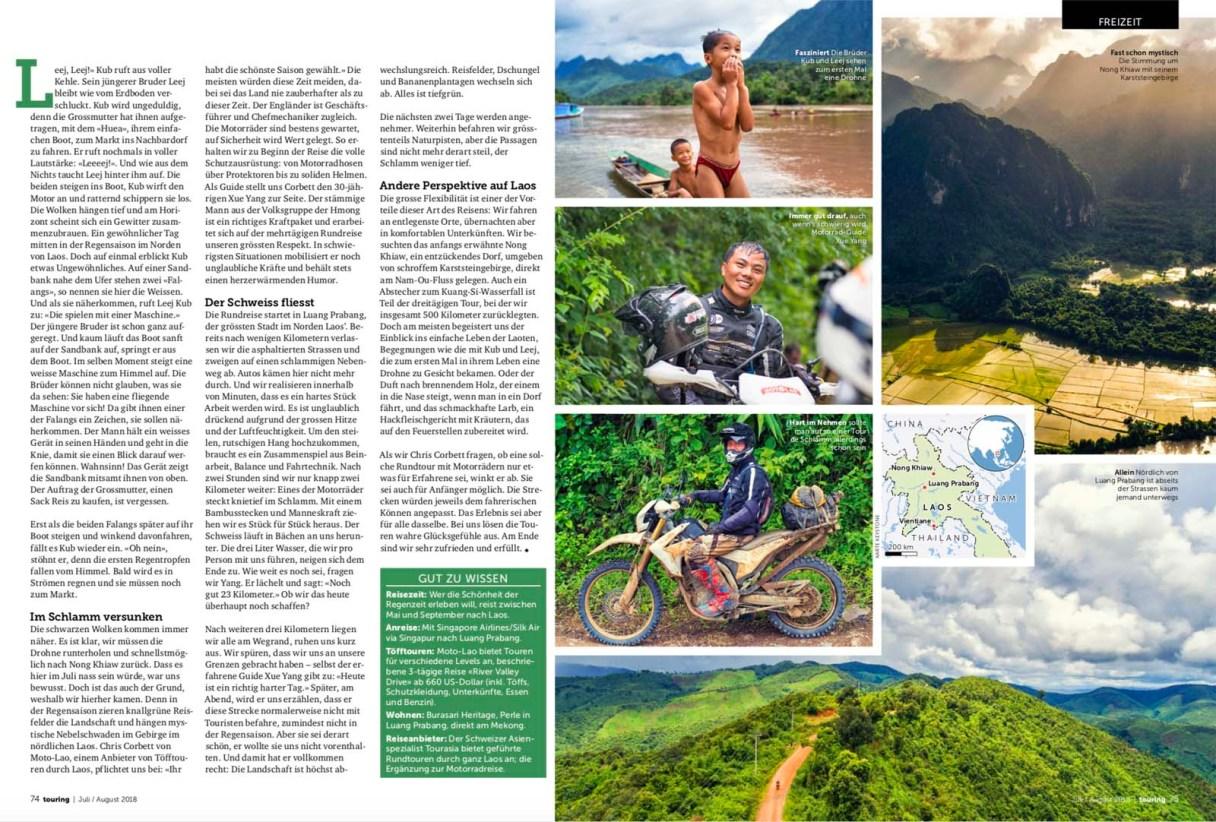 Laos mit dem Motorrad