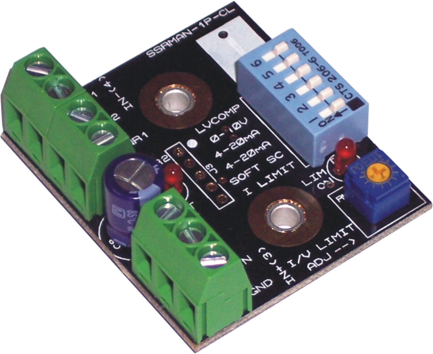 hight resolution of solid state relay phase angle controller current limit soft start