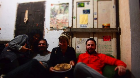 Ruth, Firat, Ben ve Anton meshur muzlu kekimle :)