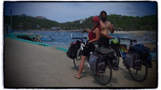 Uruguaylı bisikletli çift
