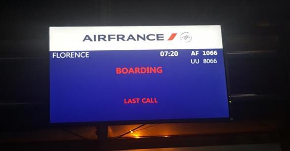 Vol Air France Paris Florence