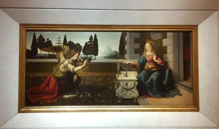 L'Annonciation de Leonardo de Vinci