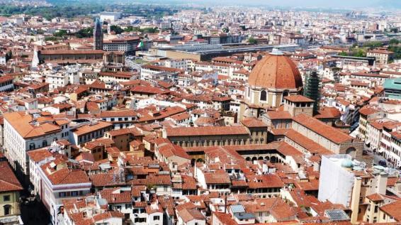 Vue sur Santa Maria Novella depuis la Couple du Duomo Florence