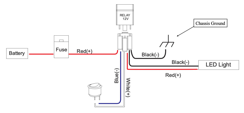Light Bar Relay Diagram / Buy Genssi 30 40 Amp Auto Led