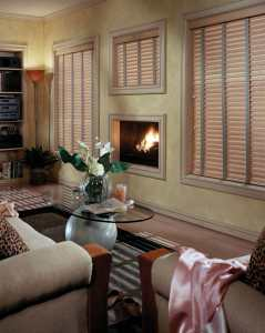 Colorado Springs faux wood blinds comfortex family room