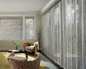 Vertical Woven Wood Shades in Colorado Springs
