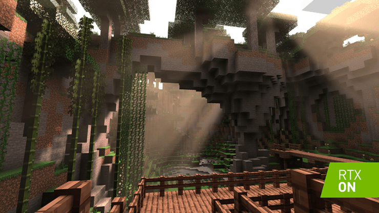 Minecraft with RTX Ray Tracing Interactive Comparison Screenshot