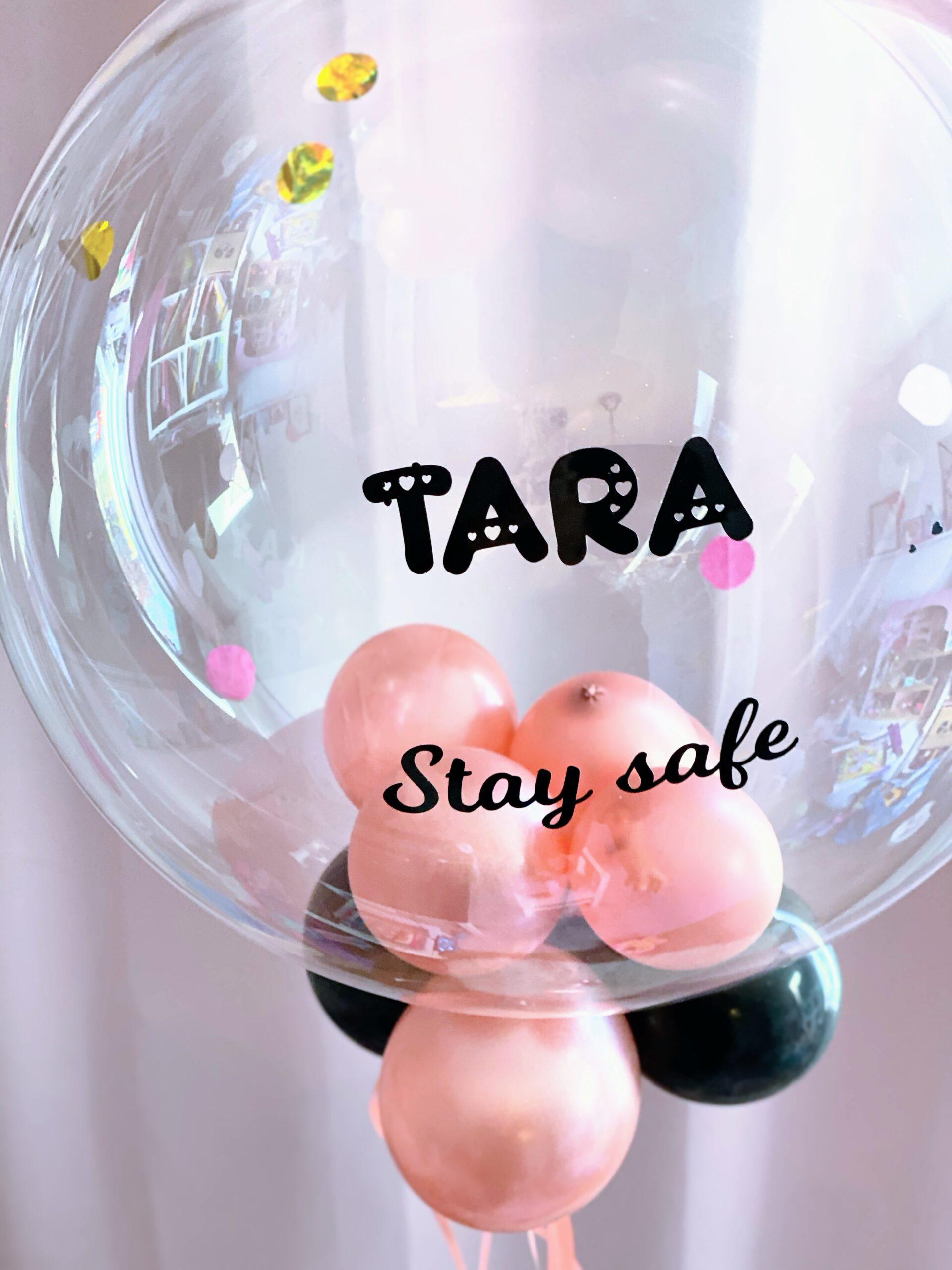 bubble ballon met mini ballonnen