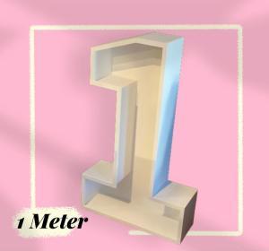 houten cijfer nr 1