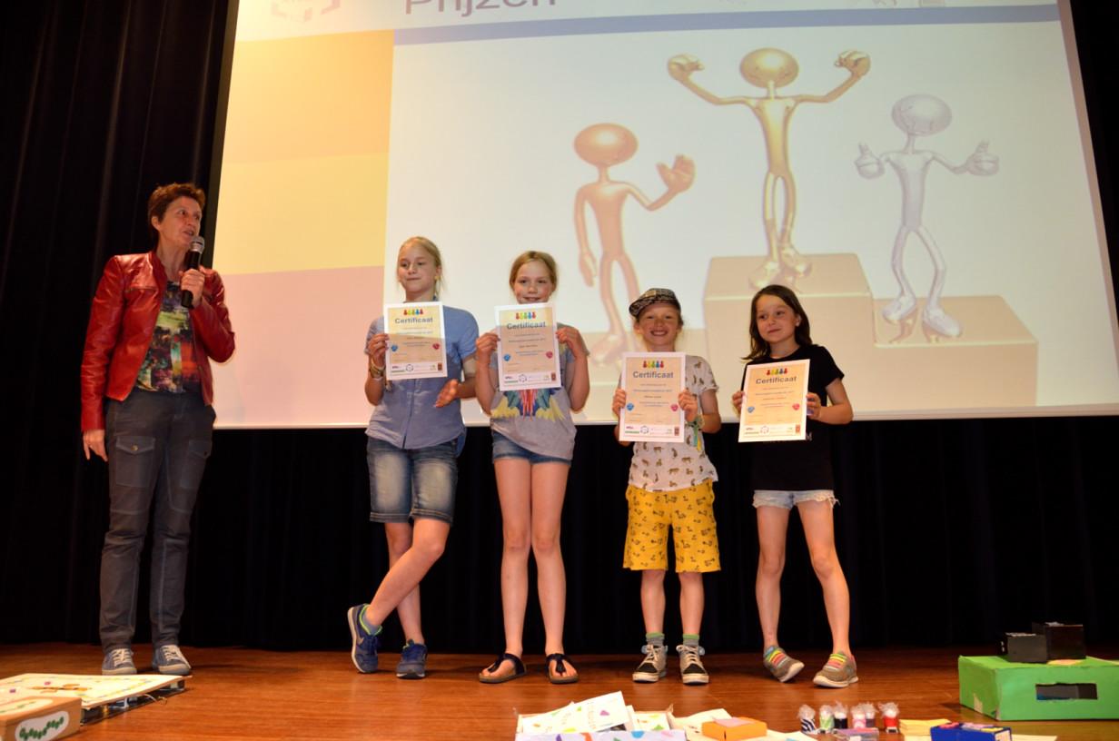 winnaars leerlingen rekenspellenwedstrijd