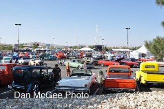 Hot August Nights: Lot for the cars..