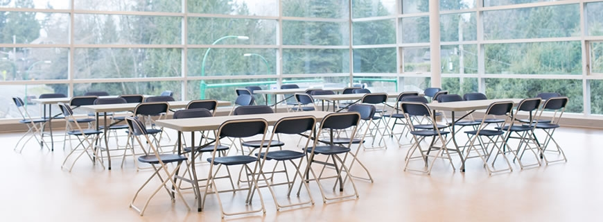 folding chair rental vancouver perfect accessories book an indoor space north recreation and culture commission rent a for your next meeting or event