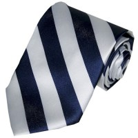 Navy and white striped tie  NVS Equine Attire