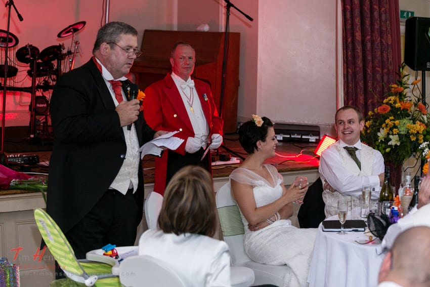 Toastmaster – Wedding in Eccleston Chester – Becca & Paul