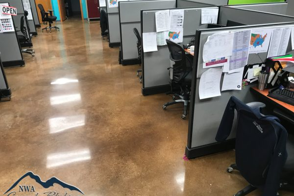 NWA Concrete Polishing - Stained/Dyed Polished Concrete