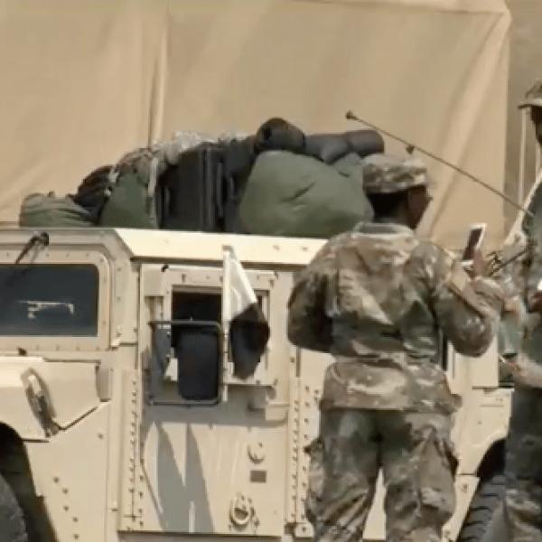 AR Guardsmen to TX