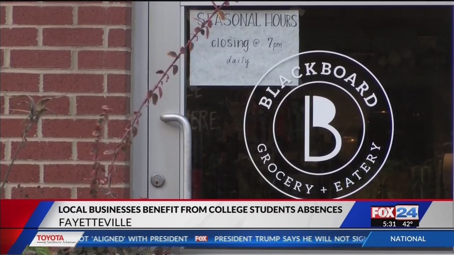 Businesses Benefit From Absence of College Students During Winter Break
