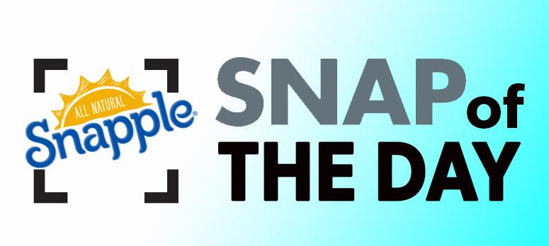 sNAP OF THE DAY lOGO snapple logo