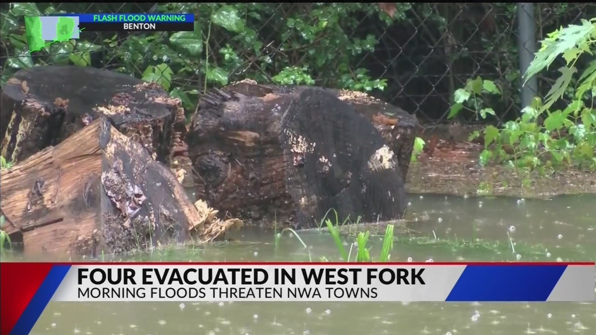Flooding forces evacuations in West Fork (KFTA)