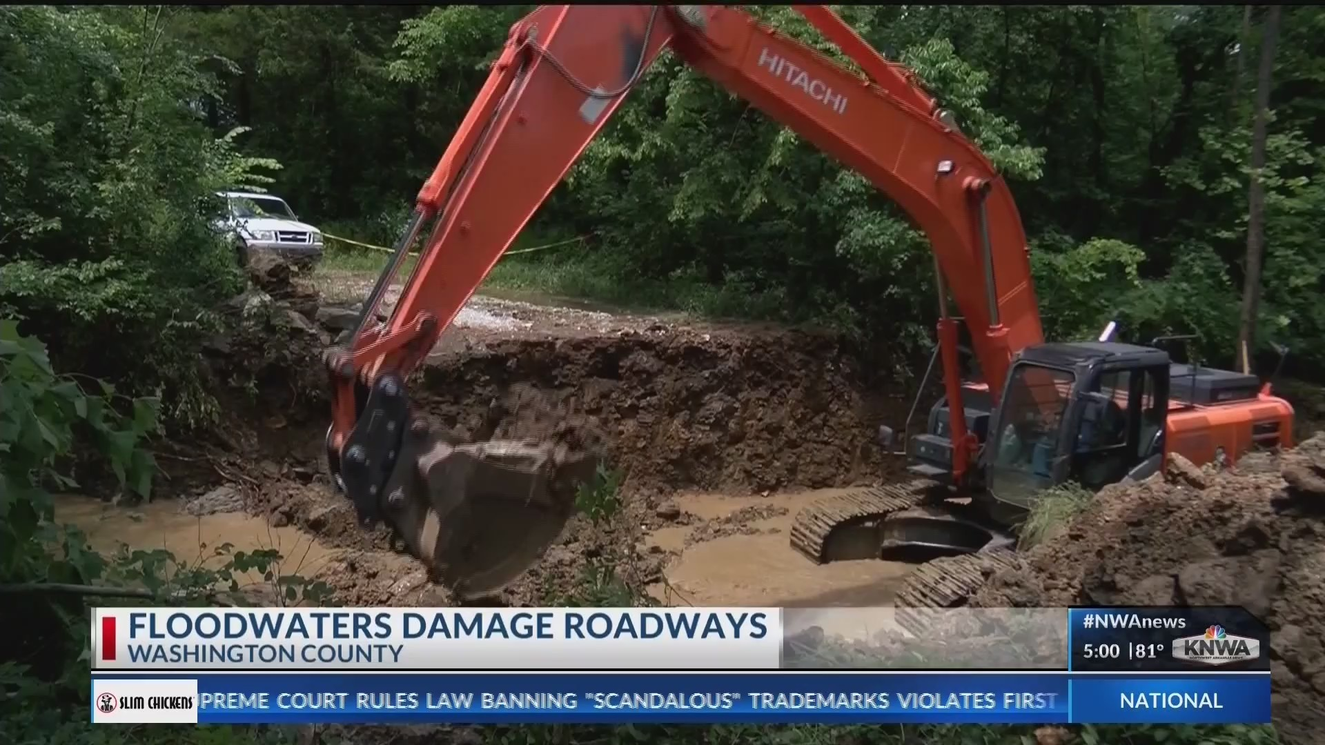 Floods damage roads in Washington County (KNWA)