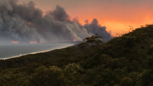 Fires at Crowdy Bay National Park