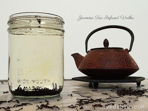 The jasmine tea tini northwest edible life for Tea infused vodka cocktails