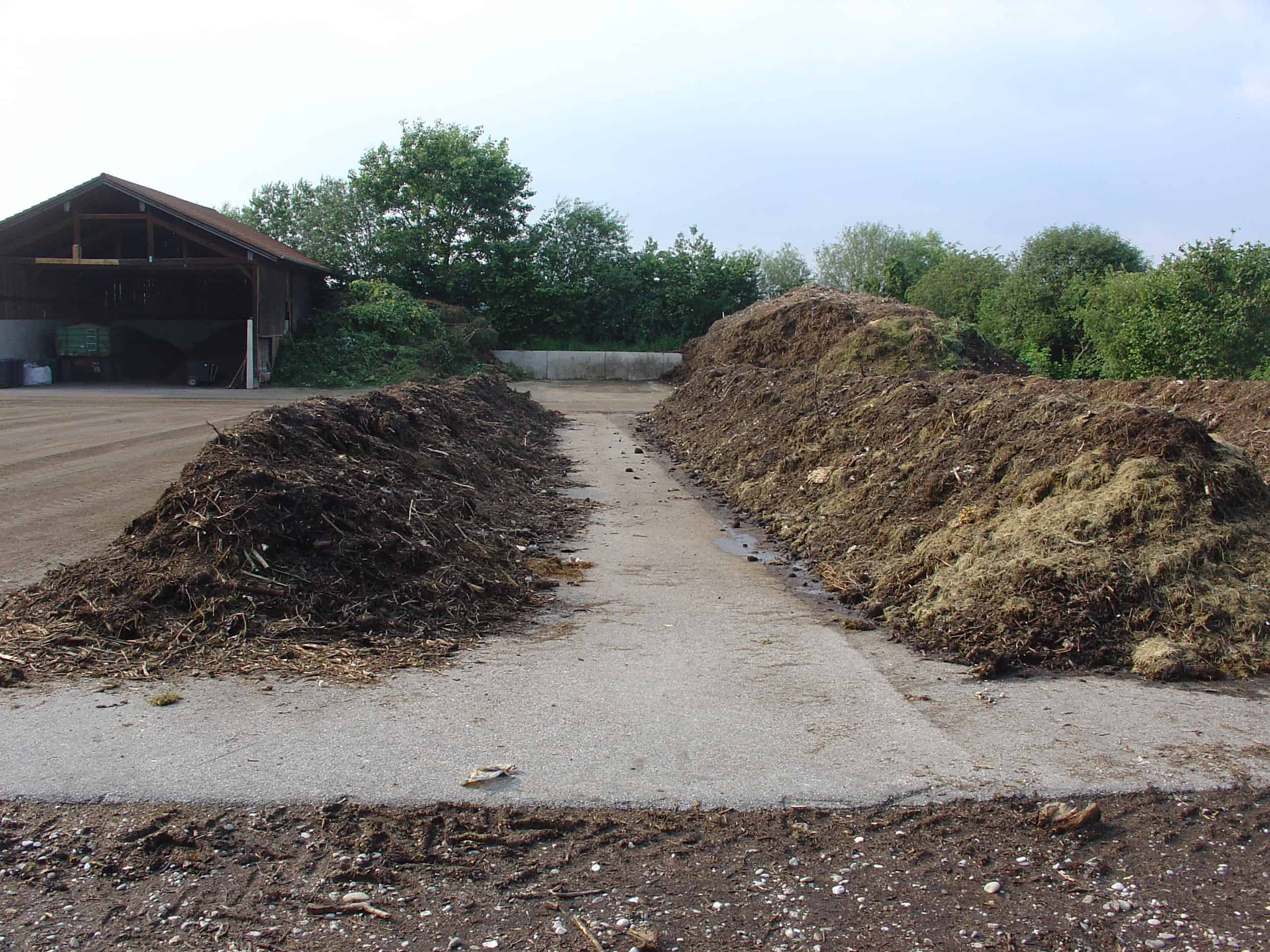 a community composting site in germany