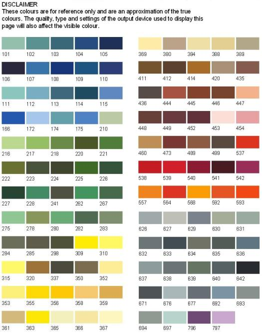 Bs381c Colour Chart