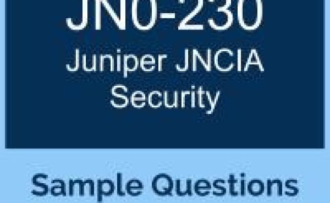 Free Juniper Jncia Security Jncia Sec Certification