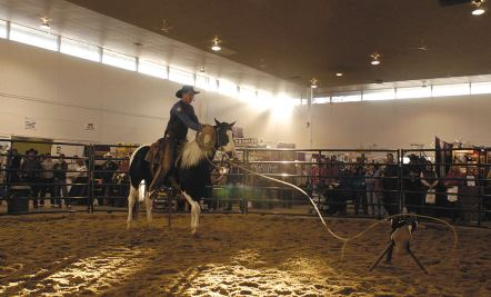 Roping demonstration by Curt Pate