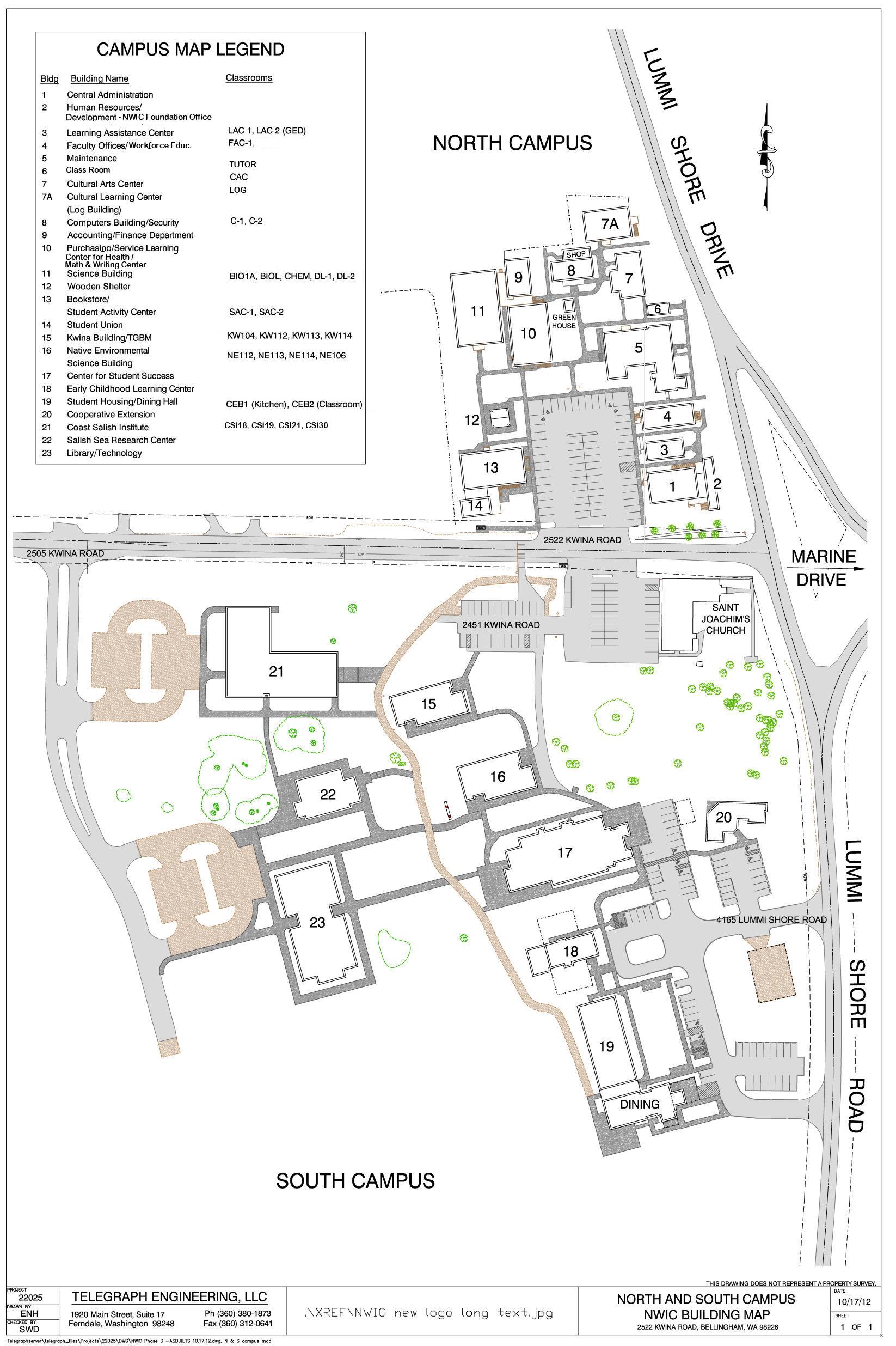 Northwest Indian College » Lummi Campus Map
